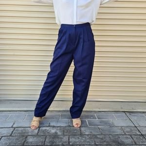 Vintage tailored navy pants, high waisted size 10